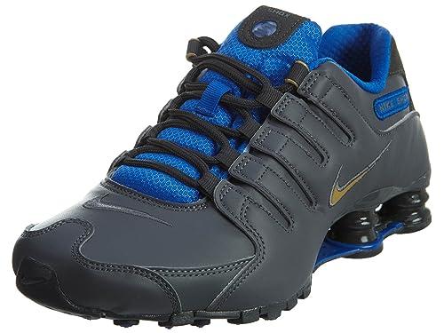 buy online d2684 7f4b1 Nike Shox NZ se para Hombre Zapatos Gris Oscuro Dorado metálico Hyper  Cobalto 833579