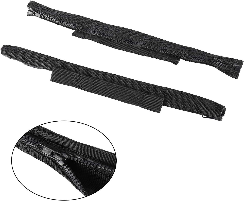 NovelBee 2 Pack of Door Limiting Straps with Zipper Fit for Jeep Wrangler JK JKU 2007-2018