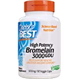 Doctor's Best 3000 GDU Bromelain Proteolytic Digestive Enzymes Supplements, Supports Healthy Digestion, Joint Health, Nutrien