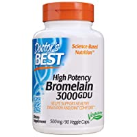 Doctor's Best 3000 GDU Bromelain Proteolytic Digestive Enzymes Supplements, Supports...