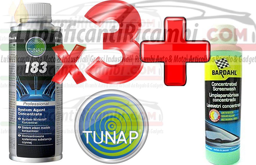 3 x botes tunap 183 Ex 182 aditivo inyectores bomba diesel Limpiador Depósitos Combustible + Bardahl líquido limpiacristales concentrado anticongelante ...