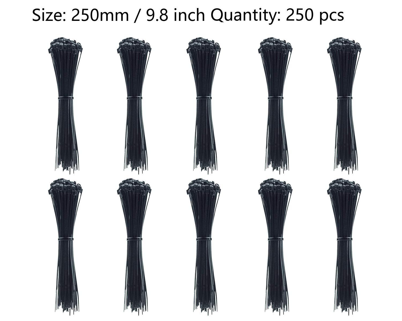 Gemony bridas para cables 500 Pcs Verde Casa Oficina Garaje Taller in tama/ño 100mm,150mm,200mm,250mm,300mm Cada tama/ño 100 Pcs ZD-006