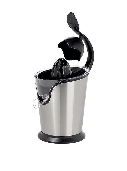 BEPER Exprimidor de Zumo eléctrico con Brazo, Acero, Plata/Negro, 18 x