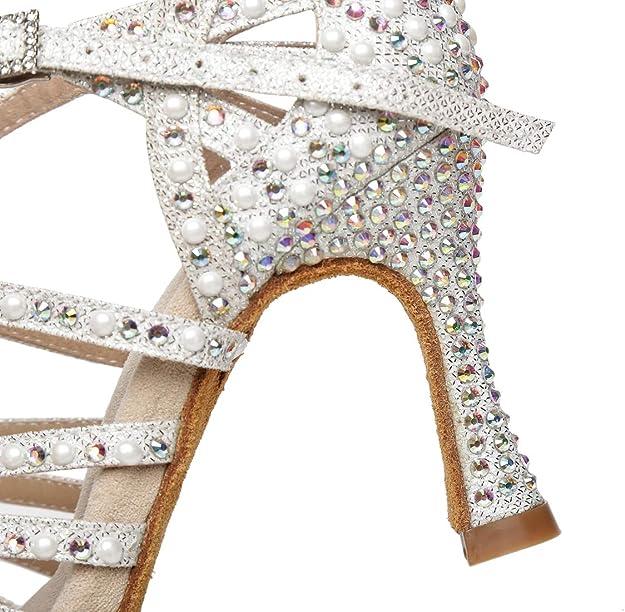 Minitoo L429 Chaussures de danse /à talon /évas/é pour femme 8,9 cm