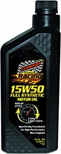 Champion Brands 4309H-EACH 'Racing' 15W-50 Full-Synthetic Automotive Motor Oil - 1 Quart Bottle