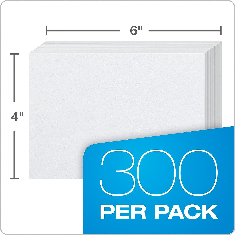 100 cards White dimensione 7,62 cm x 12,7/cm Cartoncini bianchi Oxford 100/pezzi Vuoto 3 x 5