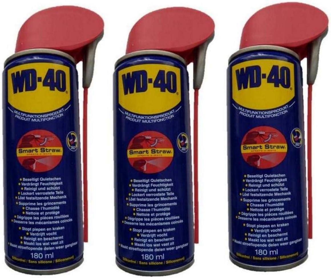 WD-40 - Spray multifunción, 3 botes de 180 ml: Amazon.es: Coche y moto