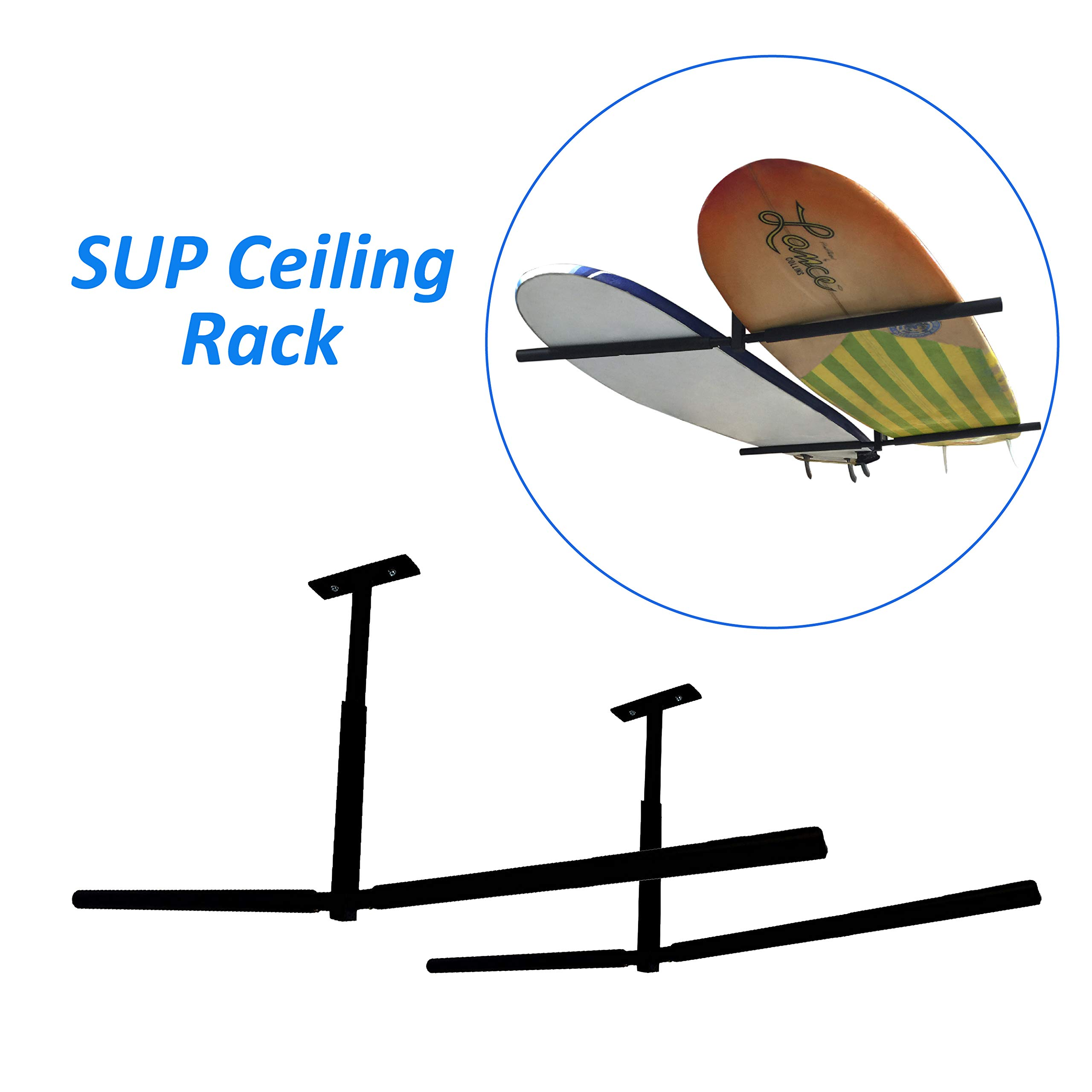 EasyGoProducts EGP-SURF-007 EasyGO SUP Surfboard Overhead Ceiling Mount-for Garage or Room-Paddle Board and Longboard Racks - Double Sided by EasyGoProducts