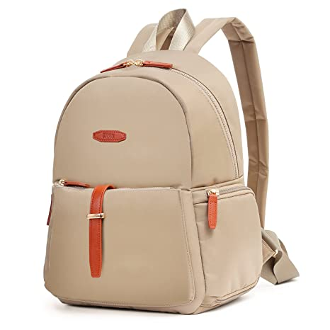 2ace04f998 ECOSUSI Women s Modern Design Fashion Nylon Backpacks Casual College School  Bag Khaki  Amazon.ca  Luggage   Bags