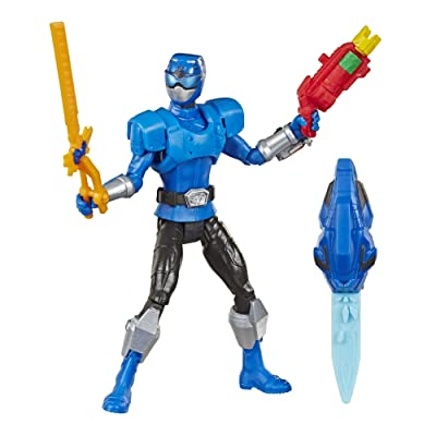"Power Rangers Beast Morphers Beast-X Blue Ranger 6"" Action Figure Toy Inspired by The TV Show: Toys & Games"