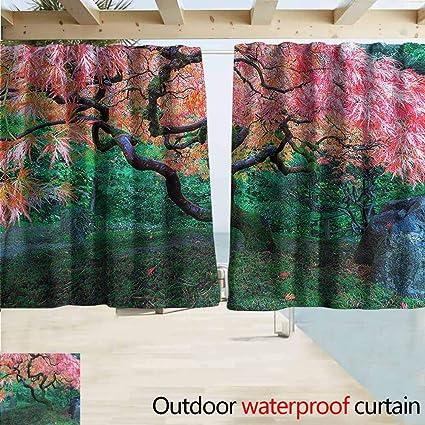 Amazon.com  Doorway Curtain Japanese Red Leaf Maple in