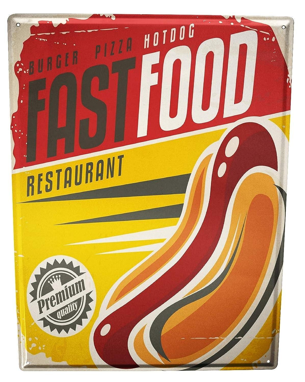 Cartel Letrero de Chapa Cocina Hot Dog: Amazon.es: Hogar
