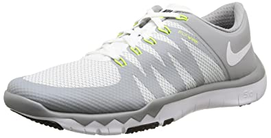 premium selection 2a8b1 59cfa Nike Men s Free Trainer 5.0 V6 White   - Wolf Grey Ankle-High Cross Shoe