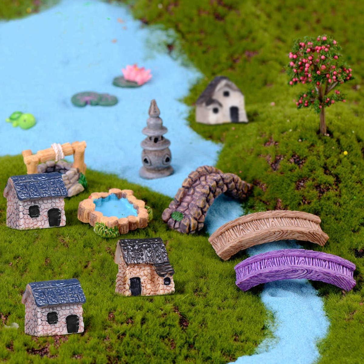 Bleu FUWUX-Home D/écorations De Jardin Micro Paysage DIY D/écoration 2 Pcs Miniature R/ésine Lollipop Dollhouse F/ée
