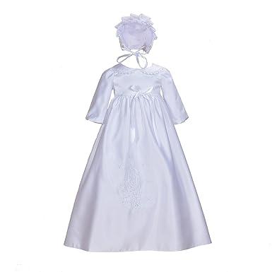 Cinda Mangas largas para bebé Tradicionales de Raso Vestido de ...