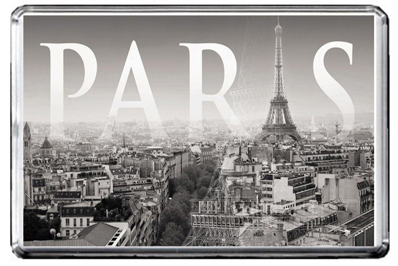 B575 Paris Vintage Photo Fridge Magnet Old Vintage City Photo of France Refrigerator Magnet GIFTSCITY