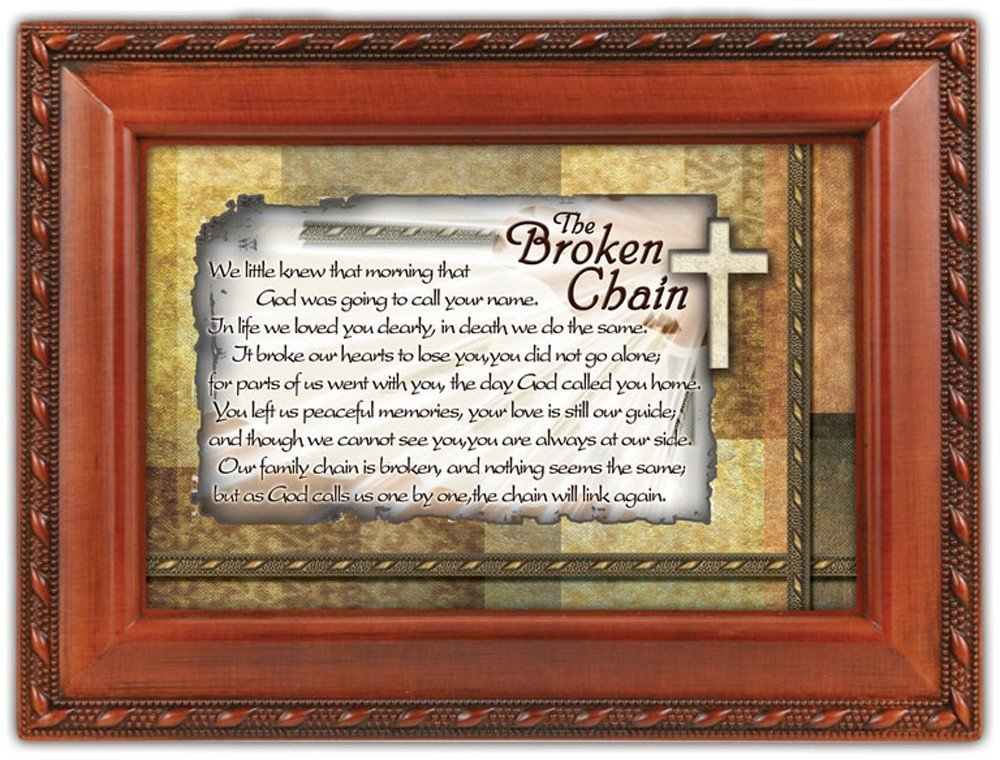 最新作の The Broken The Chain Box Bereavement Keepsake Cottage Garden Inspirational Music Inspirational Jewelry Box Plays Amazing Grace by Cottage Garden B007P7YYVC, 米袋のマルタカ:2dcf9f45 --- arcego.dominiotemporario.com
