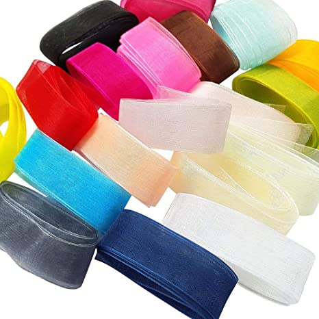 Assorted Ribbon Bundle Pack 12m For Card Making Sewing Art Craft Weddings