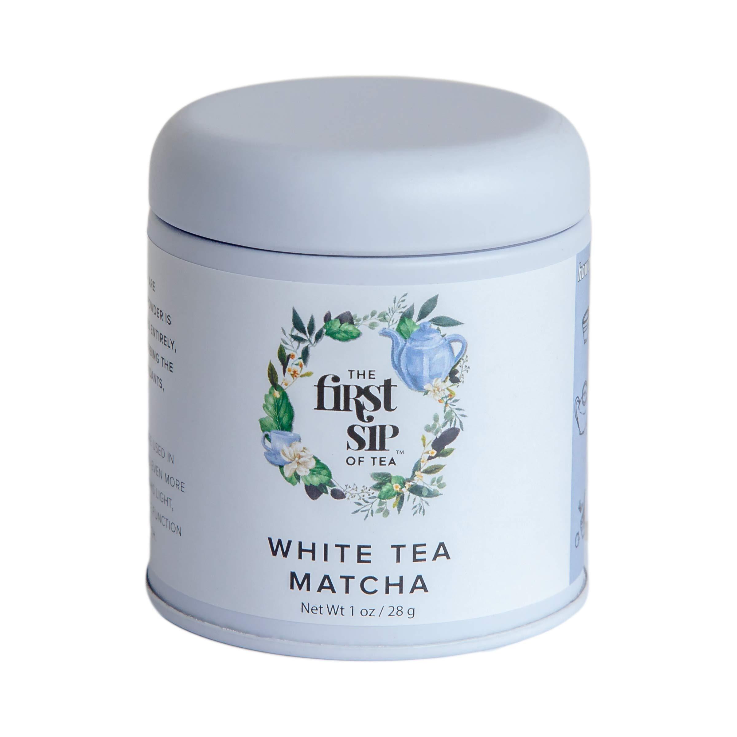 The First Sip Of Tea - Matcha White Tea Powder, Pure 1 Oz