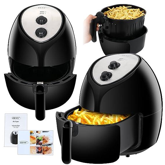 Amazon.com: ZENY - Freidora de aire eléctrica de 5,8 quarts ...