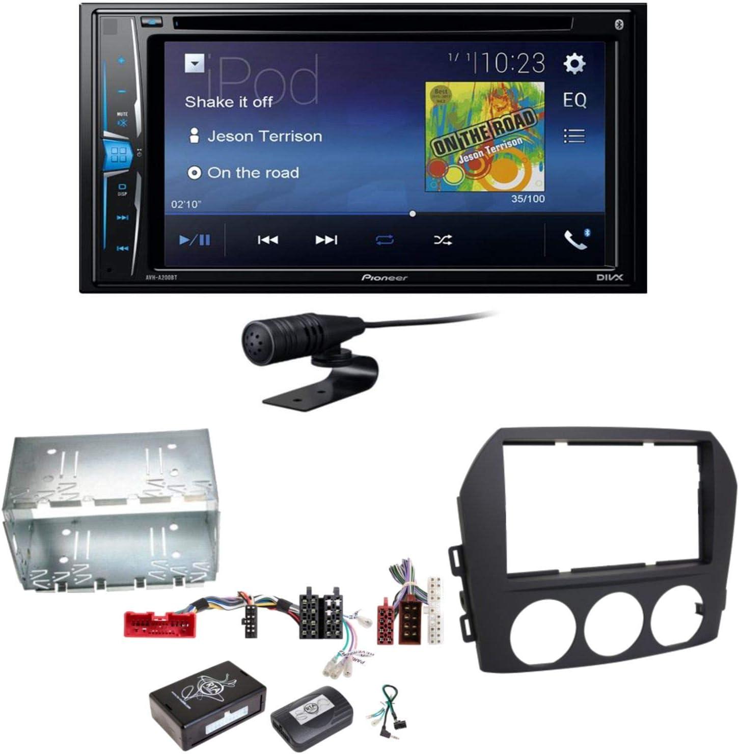 Pioneer AVH-A210BT - Radio para Coche con Pantalla táctil y Bluetooth, Reproductor de CD, DVD, MP3, Manos Libres, WAV, AUX, AAC, DivX, Set de instalación para Mazda MX-5 NC FL: Amazon.es: Electrónica
