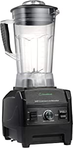 Blender By Cleanblend, Smoothie Blender, Commercial Blender, Mixer, 64 Ounce, Stainless Steel 8 Blade System, Variable Speed, Pulse, 3 HP 1800 Watt Motor Comes With a Tamper and Spatula (Renewed)