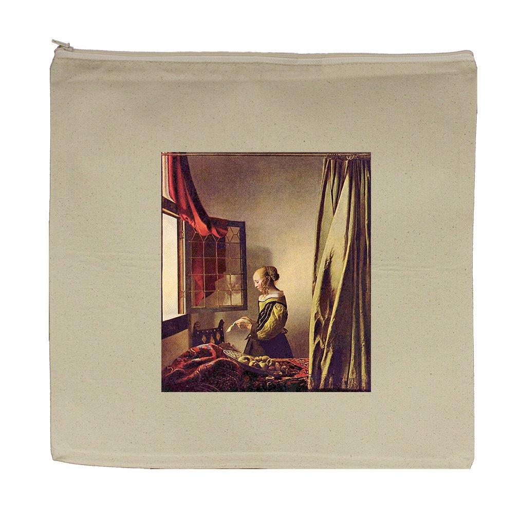 Girls At The Open Window (Vermeer) Canvas Zipper Tote Bag Makeup Bag