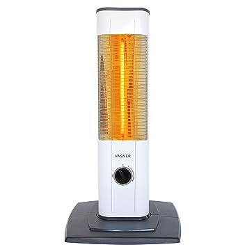vasner Stand Line Mini 12 - Estufa infrarrojos de 1200 W, color blanco, con termostato, reflector de infrarrojos para terraza, exteriores, ...