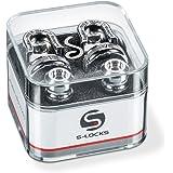 Schaller S Locks Guitar Strap Locks and Buttons (Pair) Chrome