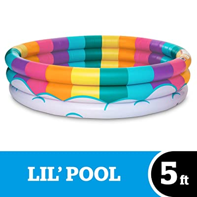 BigMouth Inc Inflatable Rainbow Kiddie Pool, Durable Plastic Baby Pool, Summer Fun Swim Pool for Kids: Toys & Games