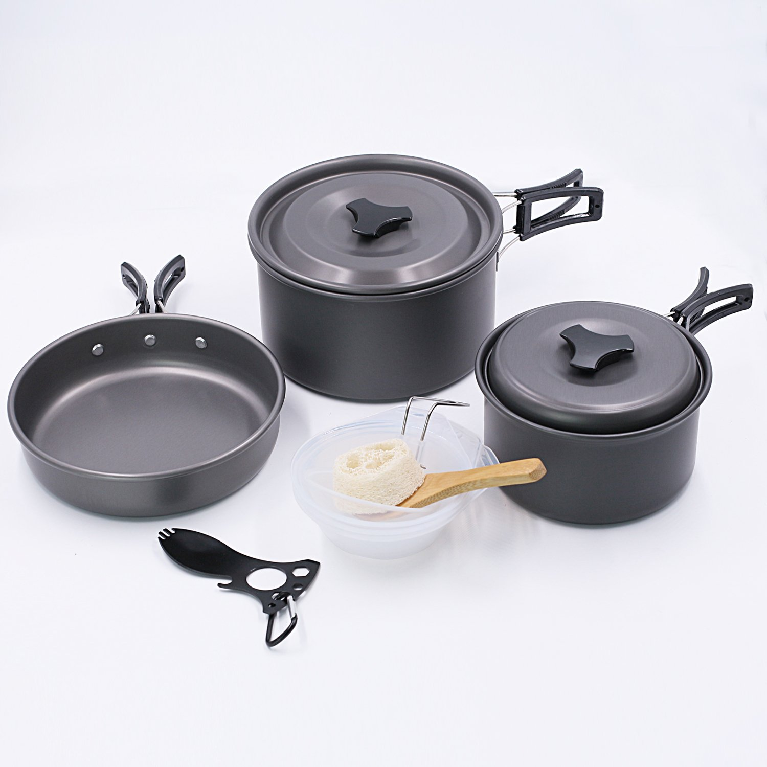 Startostar 13pcs Camping Cookware For 2 3 People Backpacking Cooking Picnic Bowl Pot Pan