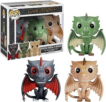 Figura Pop Juego De Tronos: Set 3 Dragones: Amazon.es: Juguetes y ...