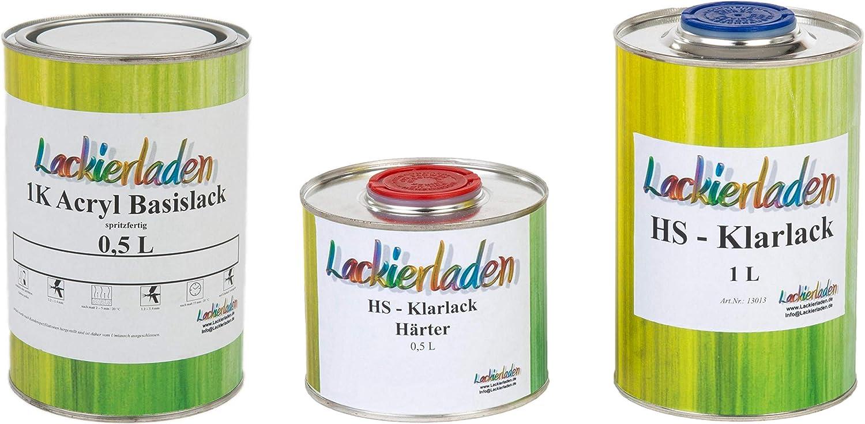 Lackierladen Autolack 2 0 Liter Set Hs Klarlack Härter Wunschfarbe Spritzfertig Bmw 276 Avusblau Met Auto