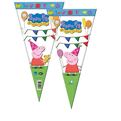 Peppa Pig 2356; Pack 6 Bolsas de Cono Ideal para Fiestas y ...