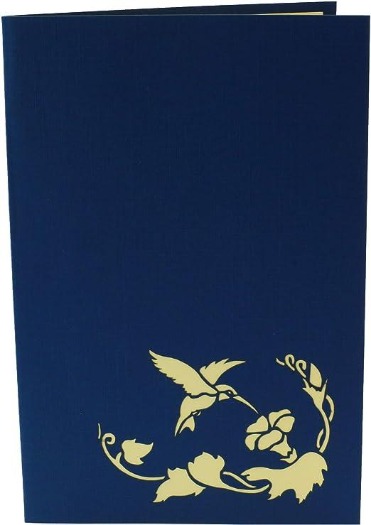 Tarjetas de popup, colibrí, tarjetas de felicitación, tarjeta 3D ...