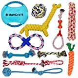 Mumcraft Dog Toys Set of 11 Unique Designs Indestructible Dog Toys for Aggressive Chewers, Reduce Anxiety, Dental Benefit