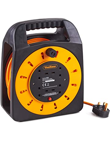 heavyduty 4way 15m,25m,and 2way+2USB ports 25m extention reel//lead branded