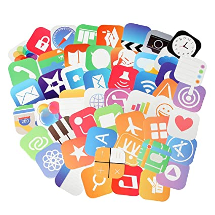 App Stickers for Laptop 50 pcs Social Media Stickers Pack for Your Life  (App Stickers-2)