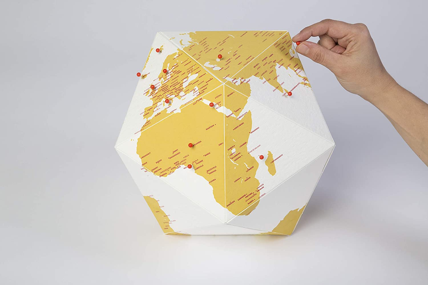 Small The Personal Globe by Cities Colour Capsule Edition Giallo Palomar Here