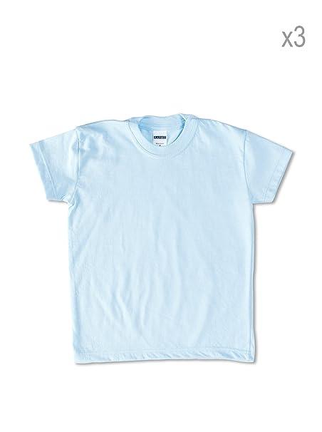 Uniformes De Colegio Pack x 3 Camisetas Azul Celeste 6 años (116 cm)