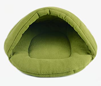wkm Saco De Dormir para Gatos Coral Fleece Soft Self-Warming Lavable Convertir A Saco