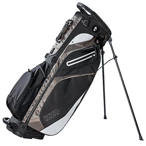 Amazon.com: Izzo Lite - Bolsa de golf con soporte – negro ...