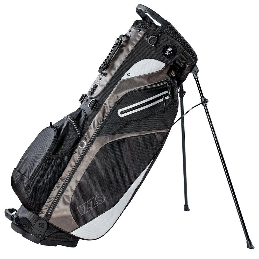 IZZO Golf Izzo Lite Stand Golf Bag Ultra Light Perfect for Carrying on The Golf Course, with Dual Straps for Easy to Carry Golf Bag, Black/Grey