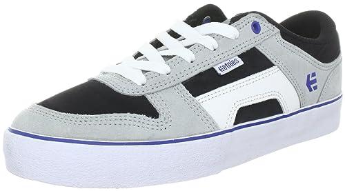 Etnies RVS 4101000310 - Zapatillas de skate de cuero nobuck para hombre, color gris,