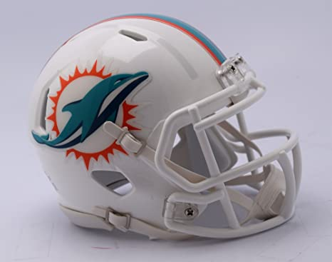 Image Unavailable. Image not available for. Color  Riddell NFL Miami  Dolphins Unisex Replica Mini Speed ... b0e15548d