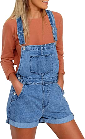 AvaCostume Girls Adjustable Straps Denim Bib Overalls