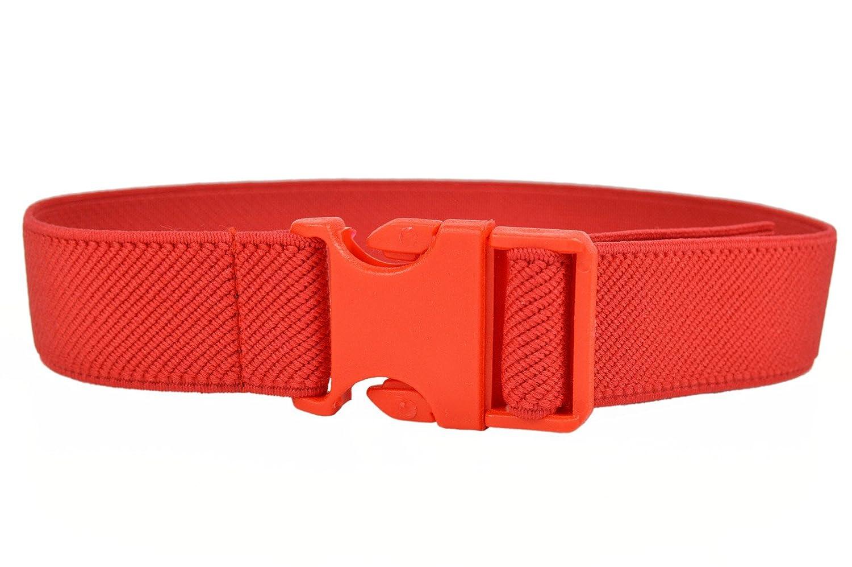 Cintura Elasticizzata per Bimbo / Bambini 1-4 Anni, Fibbia Plastica Fibbia Plastica. Rosso KIDSBELTMred