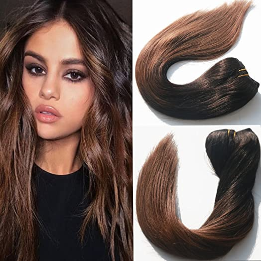 14 inch black to brown ombre hair extensions mocha balayage clip 14 inch black to brown ombre hair extensions mocha balayage clip in human hair extensions long pmusecretfo Choice Image