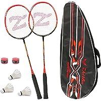 Philonext 2 Pack Badminton Rackets met 3 Shuttles & Draagtas & 2 Overgrip, Sport Carbon Fiber Lichtgewicht Badminton…