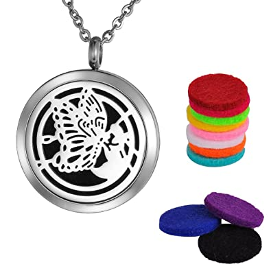 Amazoncom Valyria Essential Oil Diffuser Necklace Stainless